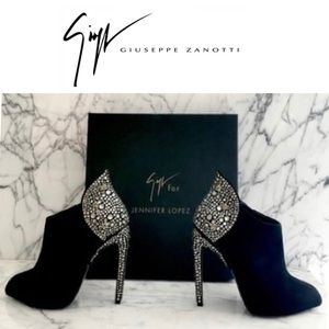 giuseppe zanotti • NEW • crystal heeled booties